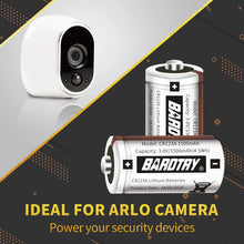 Load image into Gallery viewer, (Y490)CR123A 3V Lithium Battery [16 Pack 1500mAh Each] Bardtry Non-Rechargeable Longer Battery Life 3V Batteries for Arlo Cameras Flashlight, Polaroid, House Alarm