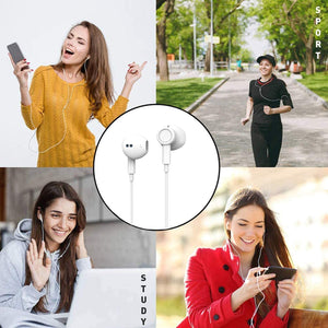 (V340)Aux Headphones,3.5mm Earphones Magnetic in-Ear Stereo Earbuds, with Microphone Noise Isolating Compatible
