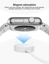 Load image into Gallery viewer, (Y844)2-in-1 Updated Watch Charger, Charging Cable Magnetic Wireless Portable Charger Charging Cable Cord Compatible for Apple Watch Series 5 4 3 2 1