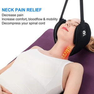 (Y733)2020 Neck Stretcher Head Hammock Portable Cervical Neck Traction Device for Neck Pain Relief, Relaxation Sling Provides Physical Therapy for Neck Tensions and Shoulder Pain