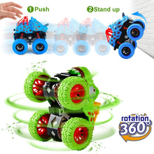 Load image into Gallery viewer, (S364)LODBY Double-Directions Push and Go Dinosaur Vehicles Toys Sets for Kids (2 Pack)