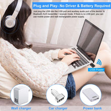 Load image into Gallery viewer, (C606) Bluetooth Receiver Transmitter, KINDRM 4in1 Mini USB Bluetooth 5.0 Audio Transmitter
