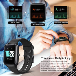 "(E554)Smart Watch, Fitness Tracker with Heart Rate Monitor, Activity Tracker with 1.3"" Touch Screen"