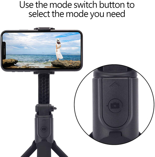 (S867)Gimbal Stabilizer for Smartphone, Sahiyeah Lightweight Foldable Phone Gimbal with Extendable Bluetooth Selfie Stick and Tripod