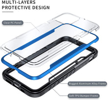 Load image into Gallery viewer, (X150)Defender Designed for iPhone 12 Case/iPhone 12 Pro Case 6.1 Inch, Protective Shield, with [2 x Tempered Glass Screen Protector]