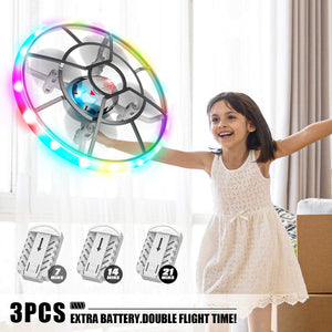 (G217)HASAKEE Q7 Mini Drone for Kids Beginners,RC Helicopter Quadcopter with Altitude Hold,Neno Light,