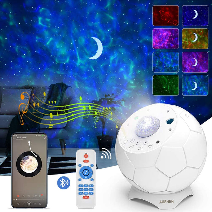 (D118)Galaxy Projector,Star Projector with LED Nebula Cloud Moon,Starry Night Light Projector for Kids Adults Bedroom/Home Theater/Room/Party/Game Rooms