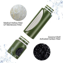 Load image into Gallery viewer, (e883)joypur Portable Outdoor Water Purifier Camping 0.01 Micron Emergency Backpacking Water Filter for Hiking with 3-Stage Filter Pump
