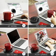Load image into Gallery viewer, (E413) Smart Coffee Warmer, BESTINNKITS Auto On/Off Gravity-induction Mug Warmer for Office Desk Use