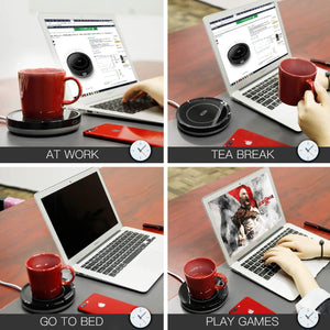 (E413) Smart Coffee Warmer, BESTINNKITS Auto On/Off Gravity-induction Mug Warmer for Office Desk Use