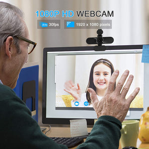 (G274)Luoba USB Webcam,1080P Video Conference HD Camera with Microphone, Desktop Laptop Computer Monitor with Webcam