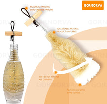Load image into Gallery viewer, (Y084)GORNORVA Bottle Brush for Sodastream Bottle - Premium Bottle Cleaner with Wool Head for Gentle and Cleaning of Drinking Bottles