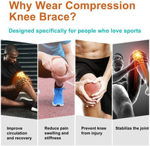 Load image into Gallery viewer, (E911)IBNS Compression Knee Brace Sleeve - Knee Support for Men & Women Arthritis Pain