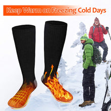 Load image into Gallery viewer, (V641)OYRGCIK Heated Socks, Thermal Socks for Men Women Winter Electric Warm Socks with Rechargeable Battery, 3 Heating Settings Leg Foot Warmers for Cold Weather Outdoor Camping Hiking Ski