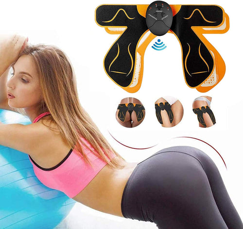 (Q618)BLUE LOVE ABS Stimulator EMS Hip Trainer, Butt Toner with Intelligence System,Helps to Lift,Shape and Firm,Body Massager for Women Fitnes