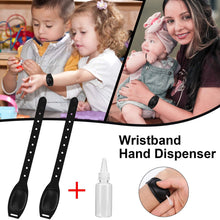 Load image into Gallery viewer, (R444)Wristband Hand Sanitizer Dispenser TOOVREN Silicone Refillable Wrist Band Hand Sanitizer Dispenser with Bottle Portable Hand Sanitizer Bracelet Wristband for Travel