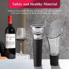 Load image into Gallery viewer, (X442)Wine Pourer and Stopper, Luxury Wine Pourer Pour Spout and Wine Stopper Vacuum, Wine Pourers and Stoppers Corks for Red Wine Liquor...