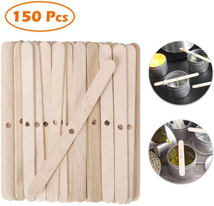 (W653)150Pcs Wooden Candle Wick Holders 4.4 Inch Candle Wick Bars, Wick Holders for Candle Making, Candle Centering Tool for DIY Crafts