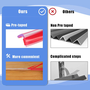 (G235)Corner Guards Baby Proofing Corner Protector, Clear Furniture Edge Guard Child Safety Kit Soft Silicone Bumper Strip 10ft(3m)