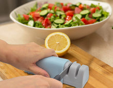 Load image into Gallery viewer, (Q110)Knife Sharpener Pocket Knife Sharpener Chefs Choice Knife Sharpener 2-Slot Quality Kitchen Knife Accessories Sharpening Kit