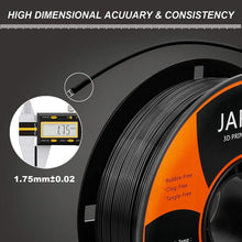 Load image into Gallery viewer, (G314)PLA Filament 1.75mm with 3D Build Surface,JAREES Black PLA 3D Printer Filament Dimensional Accuracy +/- 0.02 mm...