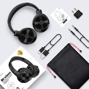 (K850)OneOdio A30 Active Noise Cancelling Headphones, Hybrid Wireless Wired Headset Bluetooth 5.0 Over Ear Headphones