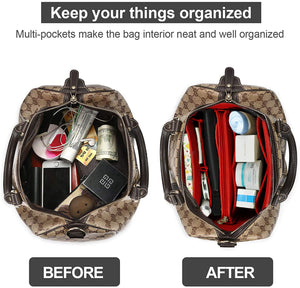 (Y198)Purse Organizer Insert, Handbag & Tote Organizer, Bag in Bag, Perfect for Speedy Neverfull and More