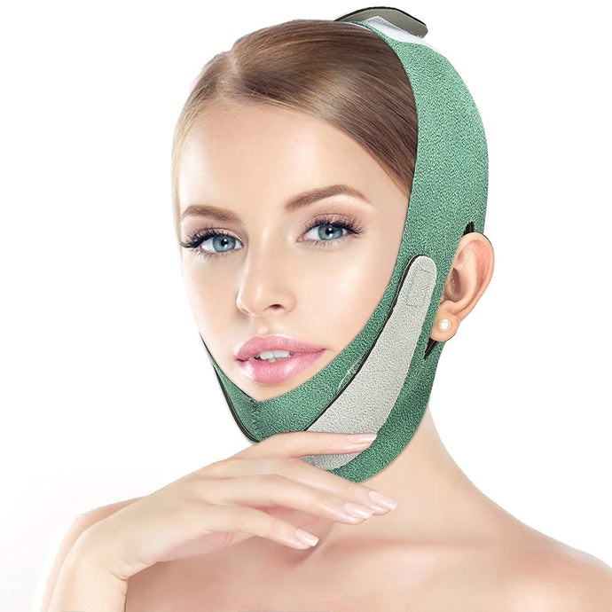 (D229)Facial Slimming Strap, Double Chin Reducer, Facial Weight Lose Slimmer Device V Line Lifting Tightening Firming Face Lift Tape Chin Strap Belt