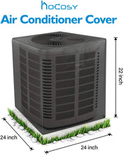 Load image into Gallery viewer, (G114)HOCOSY Air Conditioner Covers for Outside Units, Central AC Covers for Outside Fits Up to 24 x 24 x 22 inches, Waterproof, Dust-Proof and Windproof Durable AC Unit Cover