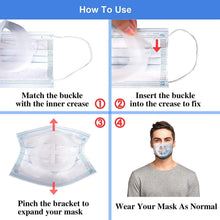 Load image into Gallery viewer, (D404)3D Mask Bracket - GX Protect Lipstick Lips - Internal Support Holder Frame Nose Breathing smoothly - DIY Face Mask Accessories(5Pcs) (Large-Adult)
