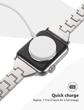 Load image into Gallery viewer, (Y843)2020 Upgraded Quick-Charge Magnetic Watch Charger, Compatible with Apple Watch Series 5/4/3/2/1 for All 38mm/40mm/42mm/44mm, Portable Wireless Charger