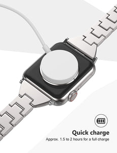 (Y843)2020 Upgraded Quick-Charge Magnetic Watch Charger, Compatible with Apple Watch Series 5/4/3/2/1 for All 38mm/40mm/42mm/44mm, Portable Wireless Charger
