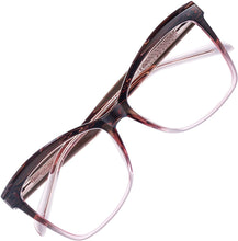 Load image into Gallery viewer, (F133)REECKEY Blue Light Blocking Glasses for Women Oversized Cat Eye Computer Thick Rim Eyeglasses(Gradient Red)