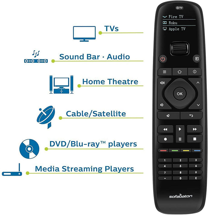 (S260)Sofabaton Universal Remote Control for Smart Home Entertainment Devices Over 6000 Brands, Replace up to 15 Bluetooth & IR Devices, Harmony Remote