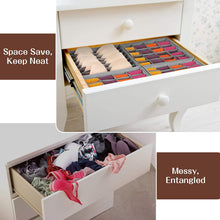 Load image into Gallery viewer, (D495)Thepeak Closet Underwear Organizer Drawer Divider 4 Pack Sock Underwear Organizer Foldable Cabinet Closet Organizers and Storage Boxes...