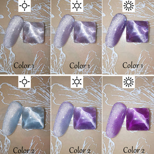 (T024) HOMOST Cat Eye Gel Nail Polish Set Color Changing Under Light, 6PCS Magnetic Gel Nail Polish Set with Magnet