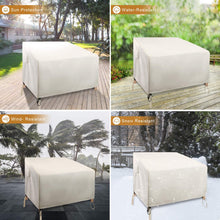 Load image into Gallery viewer, (S828)ZEJUN Patio Chair Covers, 2 Pack 37 inch Waterproof Lounge Deep Seat Cover, 600D Oxford Cloth Heavy Duty Outdoor...