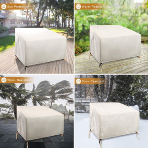 (S828)ZEJUN Patio Chair Covers, 2 Pack 37 inch Waterproof Lounge Deep Seat Cover, 600D Oxford Cloth Heavy Duty Outdoor...