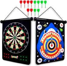 Load image into Gallery viewer, (H451)Boys Toys, Aywewii Magnetic Dart Board for Kids with 12pcs Magnetic Darts, Safe Dart Game Toys for Age 5 6 7 8 9 10 11 12 Year Old Boys Girls, Perfect Christmas Birthday Gift