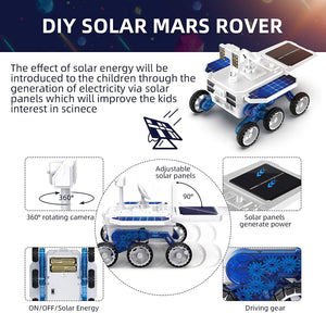 (R665)X TOYZ STEM Eco Science Building Kit DIY Solar Power Toy Car, Learning Science Building Space Mars Rover Car Toys Aged 6-12 Educational Gift