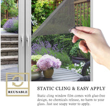 Load image into Gallery viewer, (E722)WochiTV One Way Window Film, Privacy Window Tint for Home, UV Blocking Mirror Reflective Heat Control Glass Film Non Adhesive Static Cling