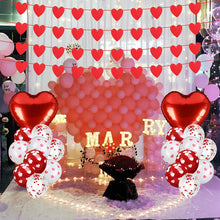 Load image into Gallery viewer, (Y782)Abodhu Valentine's Day Decorations Set, Romantic Banner Balloon Kit Valentine's Day Themed Accessories for Special Night Home Party Favors Supplies