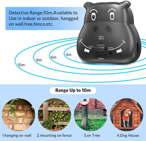 (V016)Tinzzi Bark Control Device, Anti Barking Device with 3 Adjustable Ultrasonic Volume Levels, Automatic Ultrasonic Dog Bark Deterrent for Small Medium Large Dog