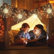 Load image into Gallery viewer, (Y911)Haliluya 4 Pack 120 LED Copper Wire Firework Lights,Battery Operated Starburst Light with Remote,8 Modes String Fairy Lights Waterproof,Decorative Hanging Lights