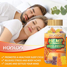 Load image into Gallery viewer, (V301)2 Pack Hemp Gummies, HOOLOO 1,500,000MG Vegan Natural Hemp Gummy Bears for Relaxing, Sleep Better, Reduce Stress Anxiety, Fruity Hemp Extract Gummies