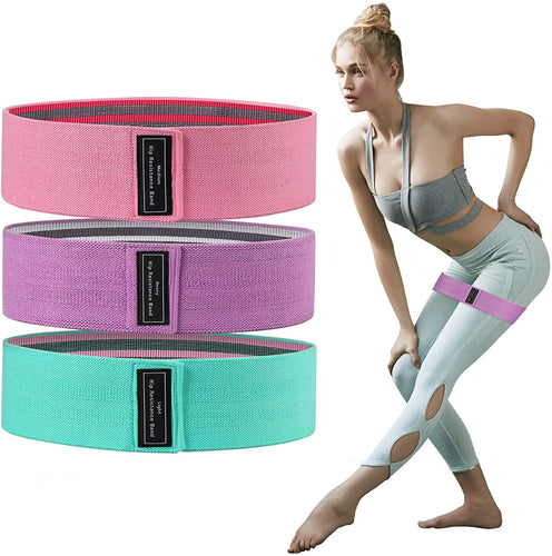 (V890)Secmote Resistance Bands for Legs Butt Glute Squats Stretch, Elastic Workout Loop Exercise Bands for Home Fitness, Strength Training, Physical Therapy