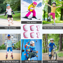 Load image into Gallery viewer, (S210)Kids Protective Gear, Toddler Knee Pads and Elbow Pads 6 in 1 Set with Wrist Guard for Skating Cycling Bike Rollerblading Scooter Skateboard Inline