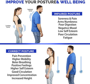 (D405)Posture Corrector for Women and Men- Perfect Adjustable Upper Back Brace for Clavicle Support and Providing Pain Relief from Neck Shoulder Upright Straightener