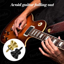 Load image into Gallery viewer, (Y082)TerSale 24pcs Guitar Strap Locks Metal Strap Buttons Metal End Pins Flat Head for Acoustic Classical Electric Guitar Bass Ukulele