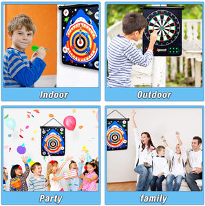 (H451)Boys Toys, Aywewii Magnetic Dart Board for Kids with 12pcs Magnetic Darts, Safe Dart Game Toys for Age 5 6 7 8 9 10 11 12 Year Old Boys Girls, Perfect Christmas Birthday Gift